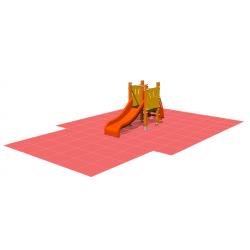Kit Toboggan + Dalles rouge