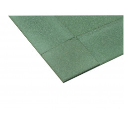 Vente angle pour dalle amortissante en caoutchouc - Vert