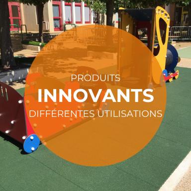 Produits innovants pour plusieurs utilisations : salles de sport, aires de jeux, ...